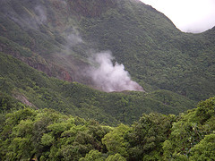 Dominica Ecotourism: The Boiling Lake From a Distance