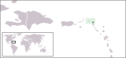 Map of Anguilla: Location in the Caribbean Islands
