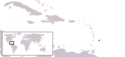Map of Barbados: Location in the Caribbean Islands