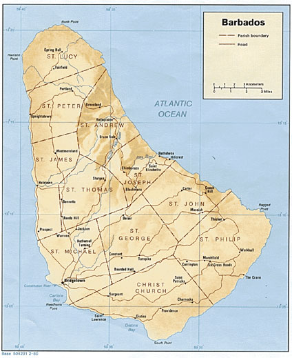 Map of Barbados: Detailed Overview